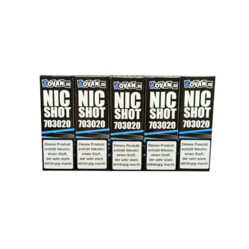 5er Packung Vovan Nikotin Shots 70/30 in 20mg