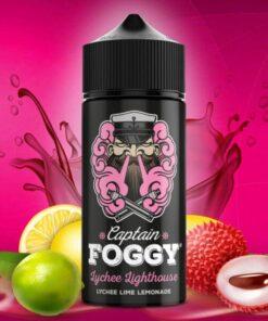 Captain Foggy Longfill Aroma Lychee Lighthouse 20ml mit lila Hintergrund